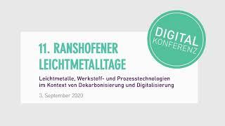 11. Ranshofener Leichtmetalltage 2020 - Digitalkonferenz