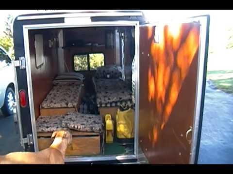 Sdv 0052 Haulmark Trailer Conversion To Camper Youtube