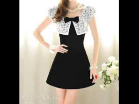992ad9883 اجمل الفساتين القصيرة للسهرات وبألوان زاهية (^ - ^) - YouTube