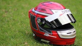 Custom painted race helmet - Airbrushing process