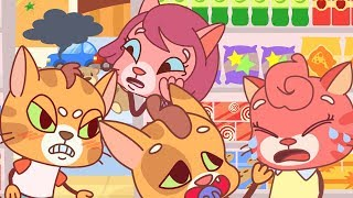 Cat Family | Cartoon for Kids | New Full Episodes #31 - Shopping Disaster