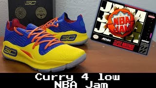 Exclusive Curry 4 Low Under Armour x NBA Jam Unofficial collaboration