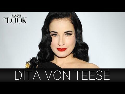 Dita Von Teese on DIY Beauty, Show Biz & Timeless Fashion   Harper's Bazaar The Look S2.E11
