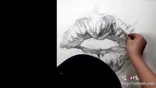 인물 그리기 _ 연필 ( 입술)  by 엄경호 pencil drawing