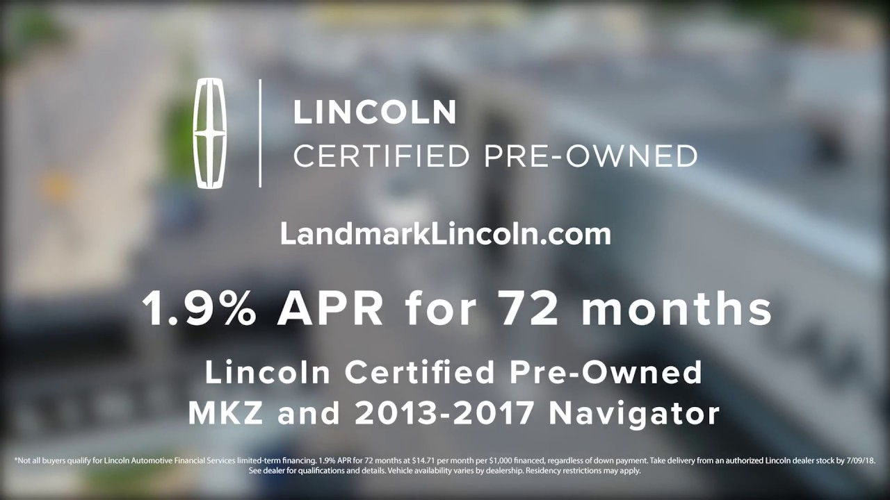 Landmark Lincoln Certified Pre Owned Youtube