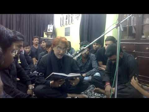 Mir Saber Ali Zawar reciting Marisa jab qatl kiya nehar pe