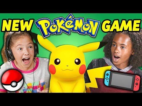 KIDS REACT TO NEW POKÉMON GAME! (Let's Go Pikachu) thumbnail