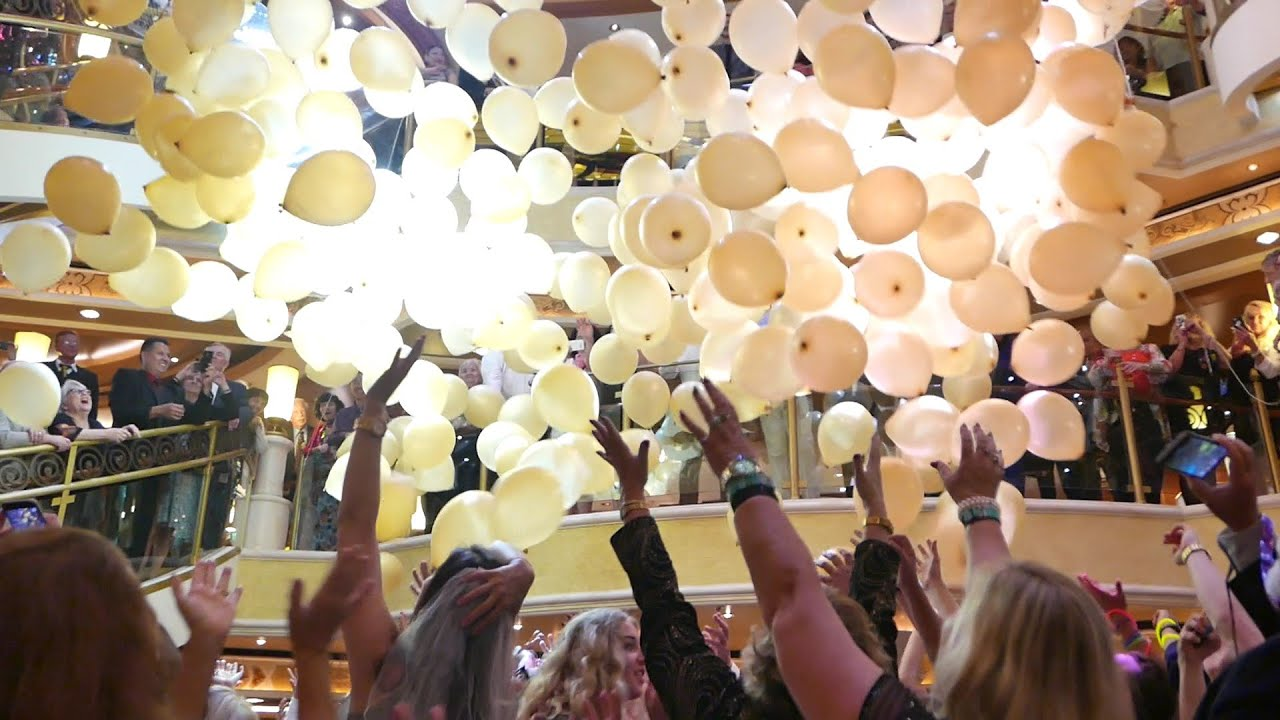 Balloon Drop Party on Cruise Ship for Adults Kids HD YouTube
