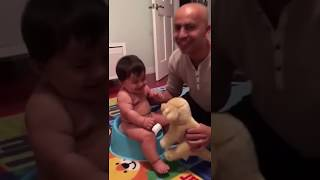 Laughing baby on potty