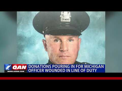 Donations pouring in for Mich. officer wounded in the line of duty