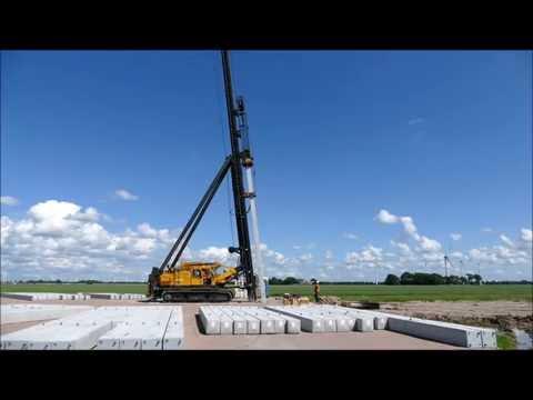 Deep Foundation for Wind Turbine Pile Driver Hammering Machine
