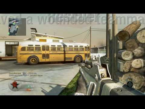 Call Of Duty Black Ops - Team Deathmatch versus Veteran Bots - Nuketown
