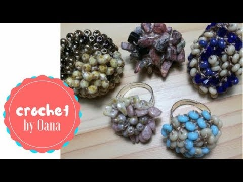 Crochet the easiest beaded ring ever by Oana