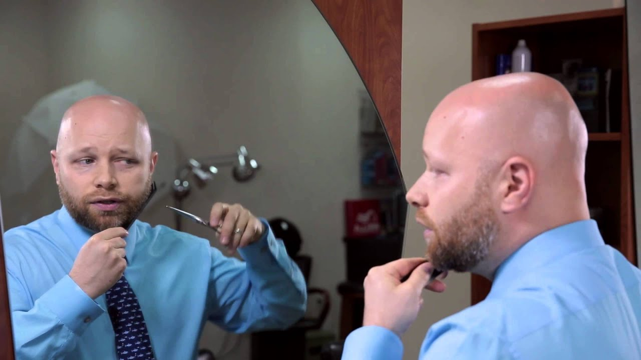 trimming a beard with scissors hair grooming tips youtube. Black Bedroom Furniture Sets. Home Design Ideas