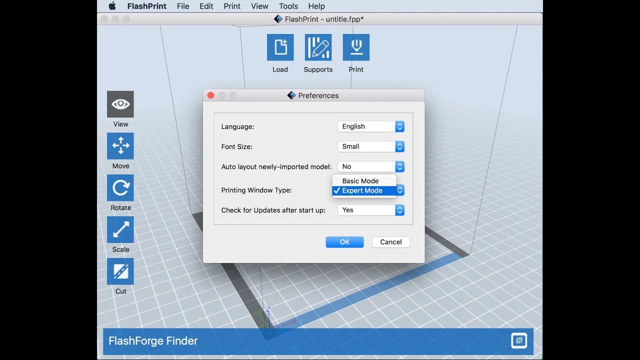 FlashForge FlashPrint slicer - How To Turn On Expert Mode