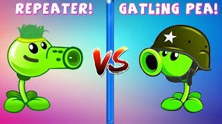 Team Plants vs Zombies! in Plants vs Zombies 2 PC: Repeater vs Gatling Pea