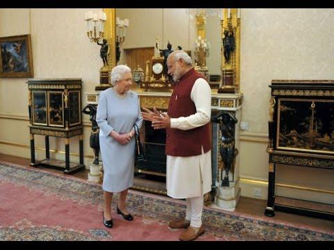 Queen Elizabeth II के साथ Modi ने किया Private Lunch, दिया यादगार Gift
