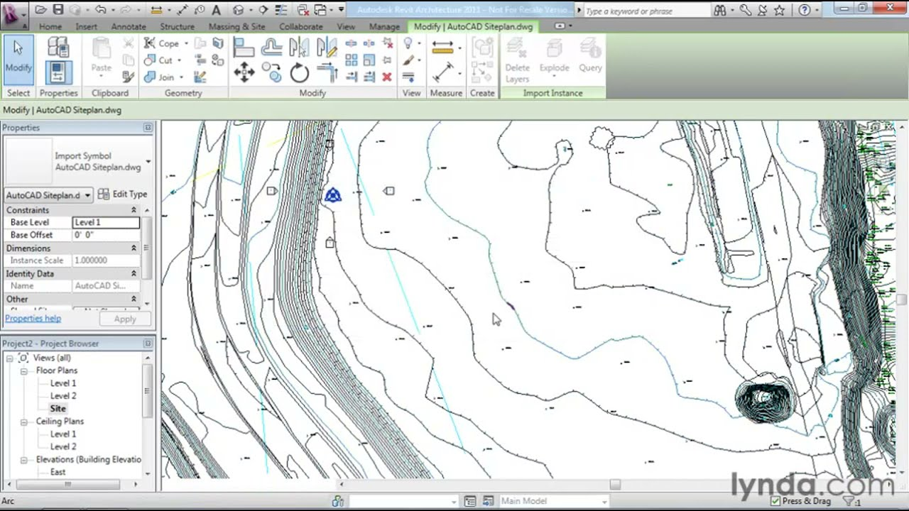 Revit Architecture: How to work with DWG files | lynda com tutorial