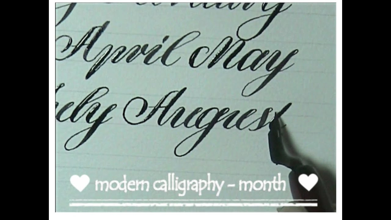 Modern calligraphy how to write month for beginners