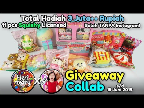 GIVEAWAY SQUISHY TOTAL 3 JUTA RUPIAH untuk 11 Orang Pemenang! - Collab Roselani Queen Tube - 동영상