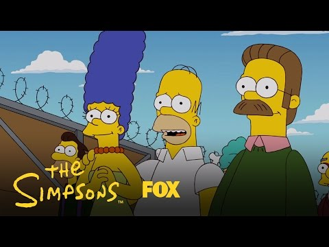 Predicted A Border Wall | Season 27 | The SIMPSONS