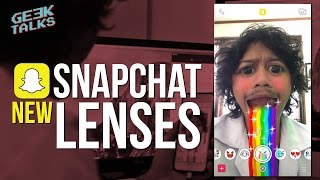 New Snapchat Lenses (How To Get New Face Effects) - Geektalks #12