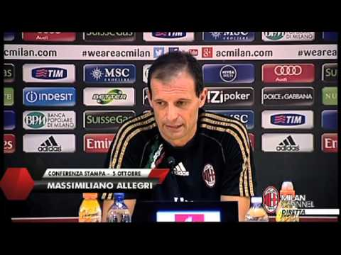 AC Milan | Allegri: 'Con la Juventus sara' una battaglia' (with subtitles)