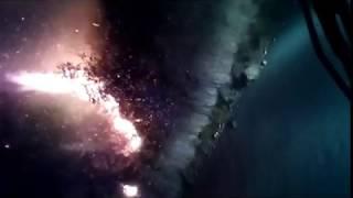 Η μεγάλη φωτιά στις Ορθονιές Ο ΤΥΦΩΝΑΣ σε δράση .