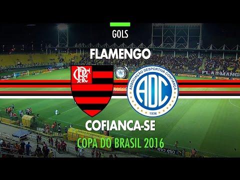 Gols - Flamengo 3 x 0 Confiança - Copa do Brasil - 20/04/2016
