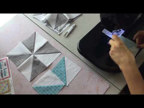 How to Assemble the Spinning Wheels Quilt Block