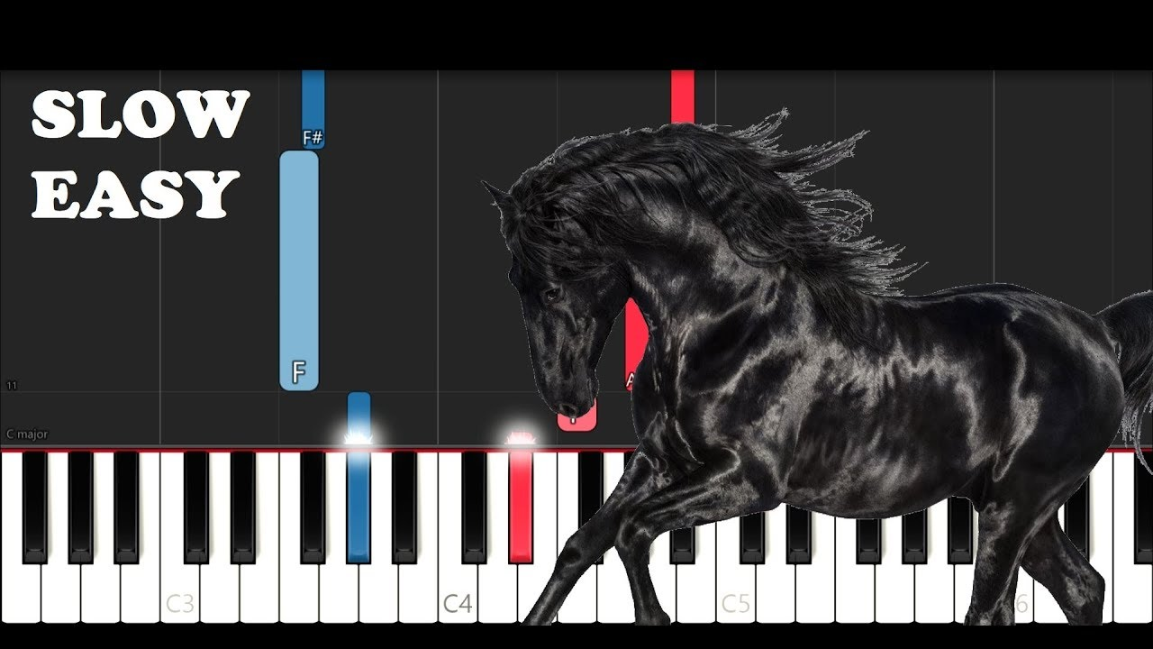 Lil Nas X Old Town Road I Got The Horses In The Back Slow Easy Piano Tutorial