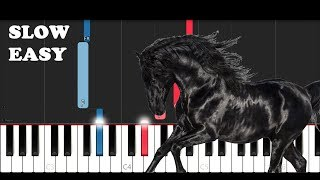 Download Lil Nas X - Old Town Road (I Got The Horses In The Back) (SLOW EASY PIANO TUTORIAL) Mp3 and Videos