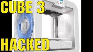 "taking apart ""Cube 3"" 3D printer"