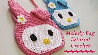 Crochet || Tutorial Tas Rajut Karakter Melody Untuk Anak - Anak (with English Subtitles)