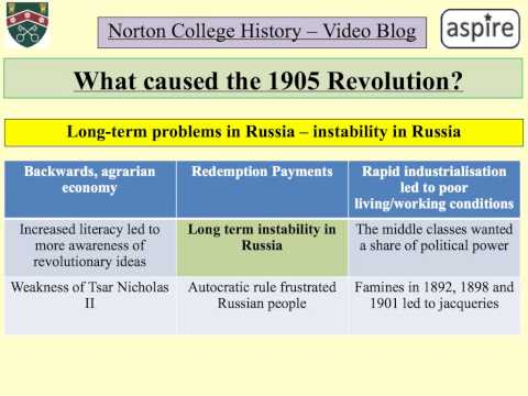 What caused the 1905 Revolution?