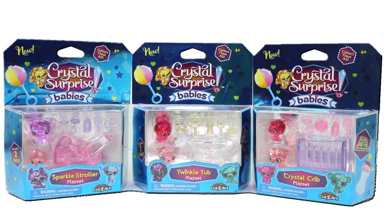Tub Complete Set Crib Stroller Crystal Surprise Babies Series 1
