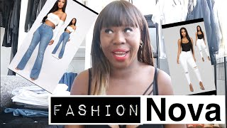 FASHION NOVA JEANS, IF ONLY THEY FIT  JUST LIKE THE MODEL// JEAN TRY ON HAUL