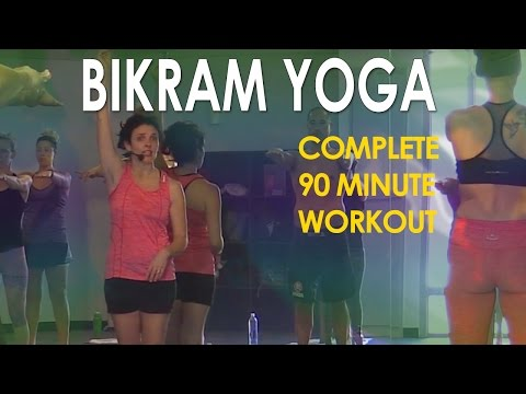 Bikram Yoga Full 90 Minute Hot Yoga Workout with Maggie Grove