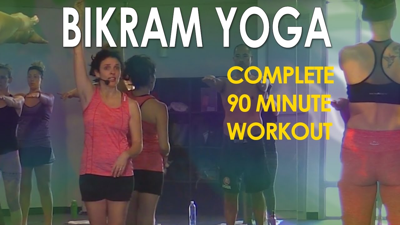 Bikram yoga full 90 minute hot yoga workout with maggie grove.