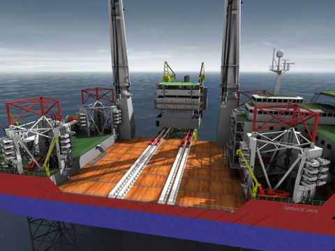 Global Maritime GM-J2800 Topside Installation