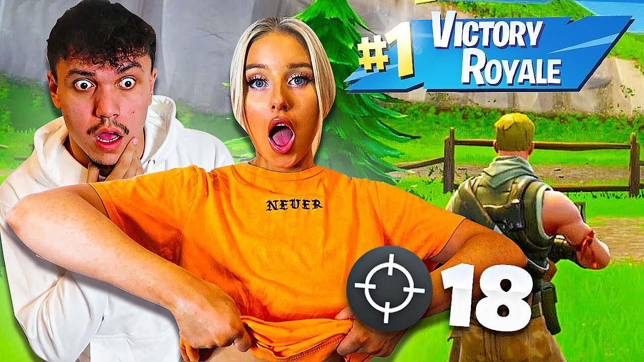 Girls taking their clothes off for every kill in fortnight 1 Kill Remove 1 Clothing W Girlfriend Fortnite Challenge Youtube