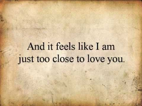 """Too Close"" *acoustic* Alex Clare lyrics video (SteffiGailMelodies)"