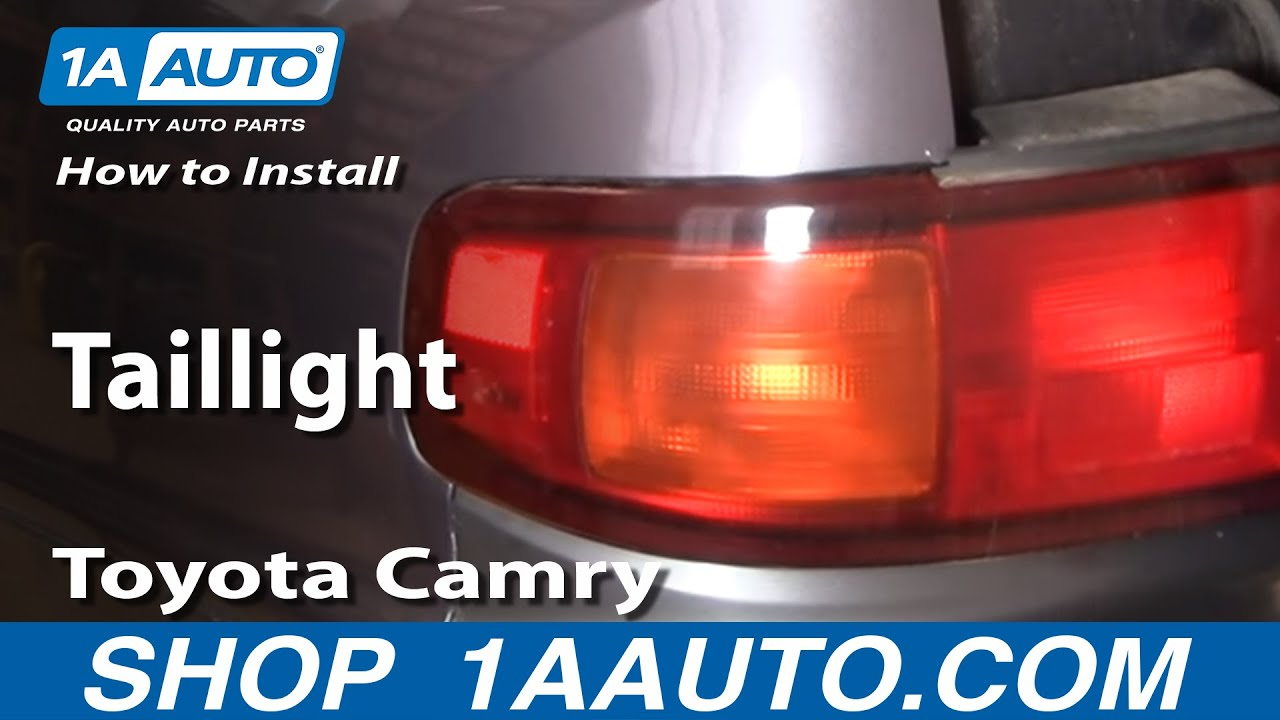 maxresdefault how to install replace taillight toyota camry 95 96 1aauto com 1997 toyota corolla tail light wiring harness at honlapkeszites.co