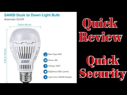 SANSI Dusk to Dawn Light Bulb Amazon Review