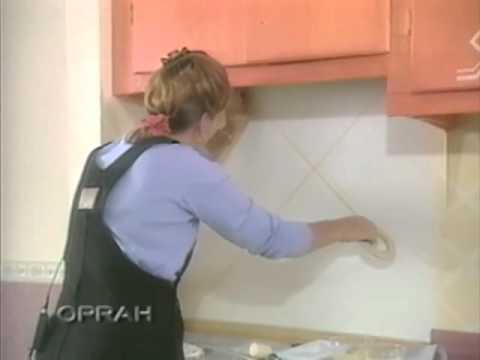 Debbie On Oprah   Fake Kitchen Tiles