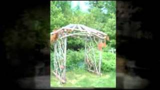 Moosehead Rustic Art Arbor
