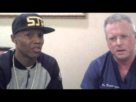 Zab Judah 5x World Champion boxer after treatment by Dr. David Levine