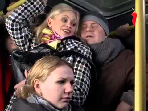 Лапаeт в автобусе