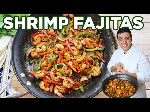Shrimp Fajitas Recipe Easy | Lounging with Lenny