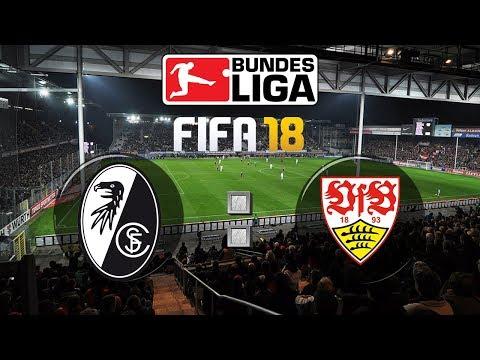 FIFA 18 Bundesliga Sport-Club Freiburg : VfB Stuttgart | Gameplay Deutsch Livestream